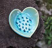 Dekorácie - srdiečko modré - 6032277_