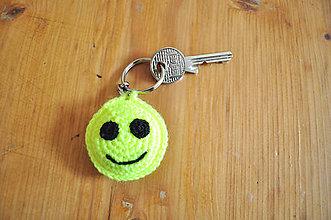 Kľúčenky - Neónový smajlík na kľúče - 6047818_