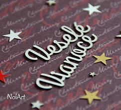 Papier - Papierový výrez Veselé Vianoce 1 - 6055599_