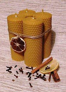 Svietidlá a sviečky - Svietiaca štvorica - hrubá - 6076989_