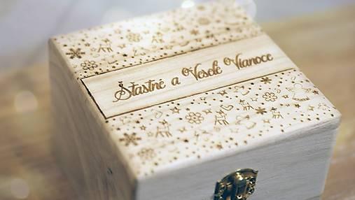 Krabičky - Šťastné a Veselé darčekové balenie - 6077311_