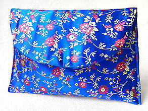 Taštičky - Vintage Japanese pochette (blue/gold/red) - 6080434_