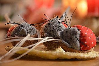 Dekorácie - Oriešok myška - 6081954_