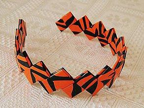 Ozdoby do vlasov - Čelenka - oranžovo čierna - 6078633_