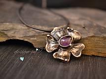 Náhrdelníky - Květ s ametystem - 6088653_