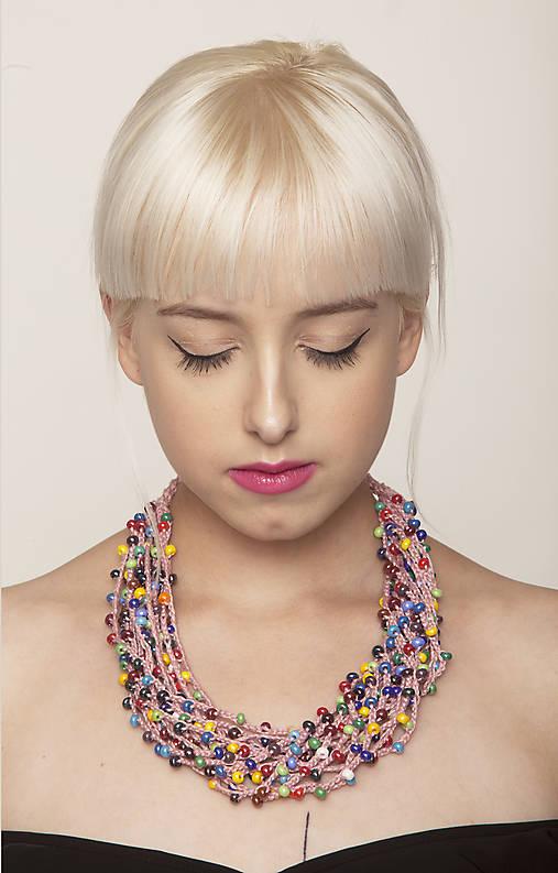 Náhrdelníky - Korálkový náhrdelník - 6088604_