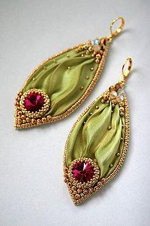 Náušnice - Fuchsia Green O.O.A.K. - 6093524_