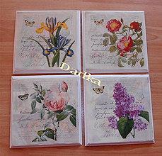 Obrázky - Kvetinkové obrázky súprava - 6097497_