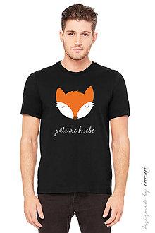 Tričká - Pánske tričko krátky rukáv PATRÍME K SEBE-LÍŠKA - 6098788_
