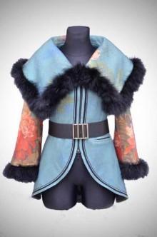 Kabáty - Vlnený potlačený kabát-ZĽAVA 30%!!! - 4606639_