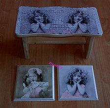 Dekorácie - Súprava šamlíček  a dva obrázky - 6128794_