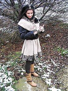 Sukne - parížske retro -sukňa, pleckohrej a rukavice - 6145116_