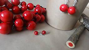 Sady šperkov - Červená sada 3v1 - 6146470_