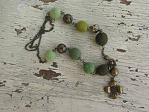 Náhrdelníky - Machový náhrdelník. - 6155595_