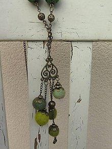 Náhrdelníky - Machový náhrdelník - 6155617_