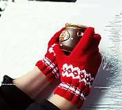 Rukavice - Červené prstačky - 6155486_