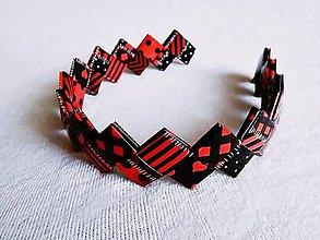 Ozdoby do vlasov - Čelenka - červeno čierna - 6180759_