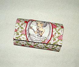 Peňaženky - Peňaženka - Dievča ruže. - 6179700_