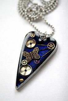 Náhrdelníky - Blue Love - O.O.A.K. - 6184089_