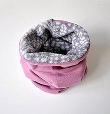 Detské doplnky - detský nákrčník ovečka šedo-ružový - 6187952_