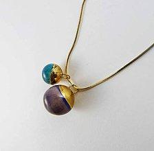 Náhrdelníky - Tana šperky - keramika/zlato - 6190538_