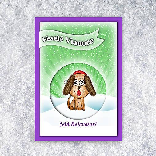 Havko v snehu - vianočná pohľadnica 4