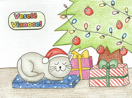 Vianočné Chibi - mačacie Vianoce