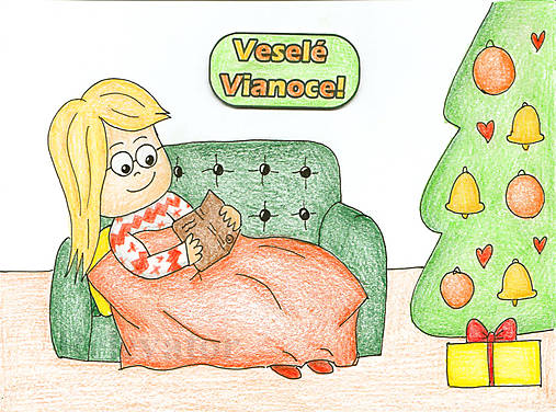 Vianočné Chibi - pohoda pri knihe