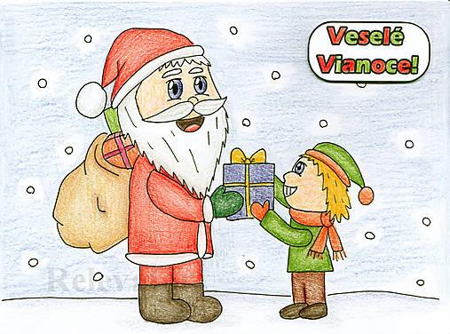 Vianočné Chibi - Santa rozdáva darčeky
