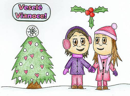 Vianočné Chibi - vianočná láska