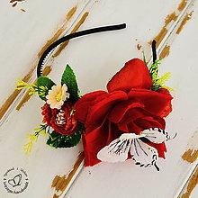 Ozdoby do vlasov - Čelenka-motýľ na ruži - 6217550_