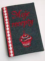 Papiernictvo - Obal+zápisník Moje recepty a muffin - 6220762_