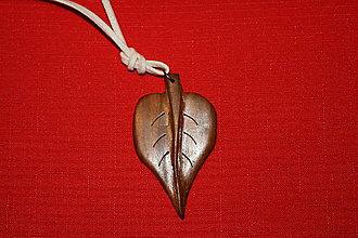 Iné šperky - list zo slivky - 6223029_