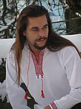 Oblečenie - Pánska folk košeľa s ukrajinským motívom - 6249769_