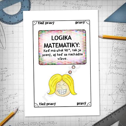 Logika matematiky - vtipné linajkové podložky do zošita