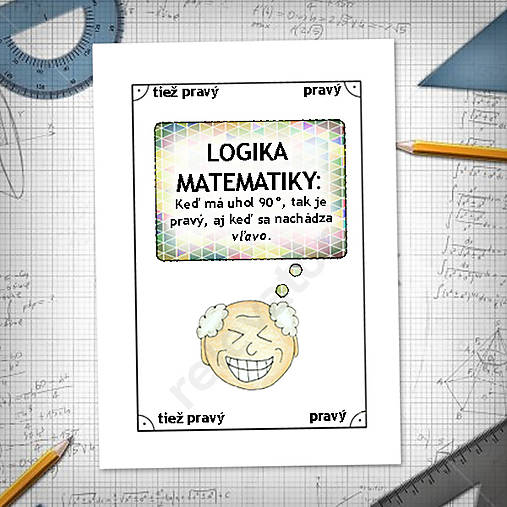 Logika matematiky - vtipné linajkové podložky do zošita 2