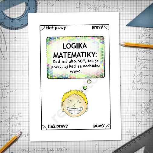 Logika matematiky - vtipné linajkové podložky do zošita 3