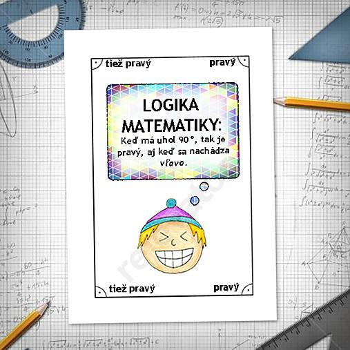 Logika matematiky - vtipné linajkové podložky do zošita 6