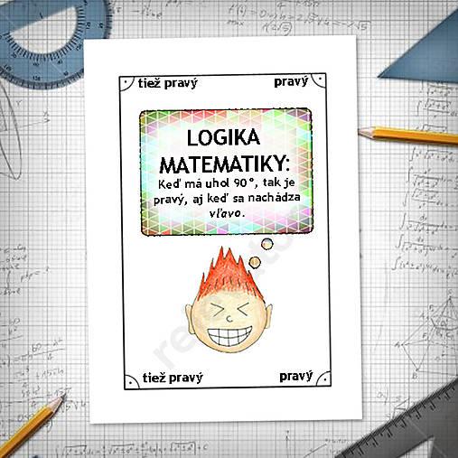 Logika matematiky - vtipné linajkové podložky do zošita 11