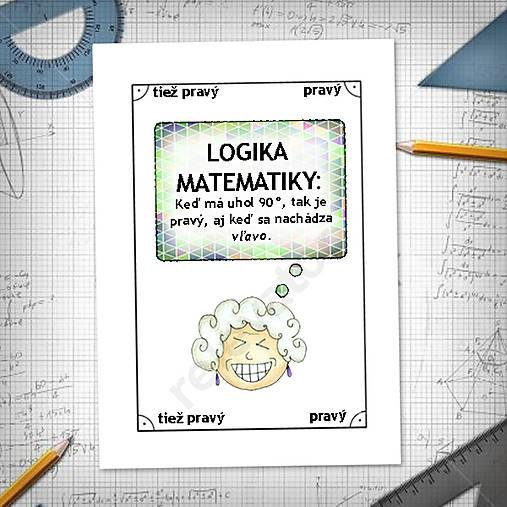 Logika matematiky - vtipné linajkové podložky do zošita 7