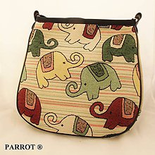 Kabelky - Hand made bag * Kambodža * sloni * PARROT® - 6272387_