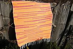 Úžitkový textil - Tkaný koberec oranžovo - červený - 6277519_