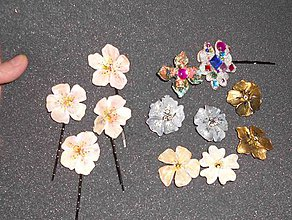 Ozdoby do vlasov - kvetinové veselosti-sponky - 6282035_