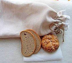 Úžitkový textil - Konopné vrecko na chlebík - čisté - 6300756_
