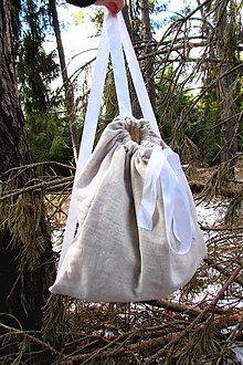 Batohy - Béžový ľanový batoh - 6301962_