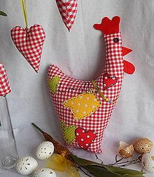 Úžitkový textil - Veľkonočná dekorácia - Vidiecká sliepočka - 6301918_