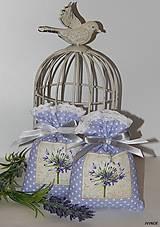 Úžitkový textil - Levanduľové vrecúška - fialkové - 6303615_