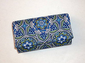 Peňaženky - Peňaženka - Modrý kvet 1. - 6301867_