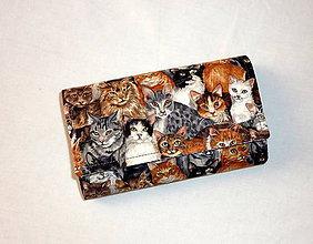 Peňaženky - Peňaženka - Mačičková - 6301881_