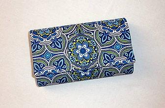 Peňaženky - Peňaženka - Modrý kvet 2 - 6301906_
